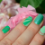 Nail art n°27 – Rose à la menthe | Decorationgles